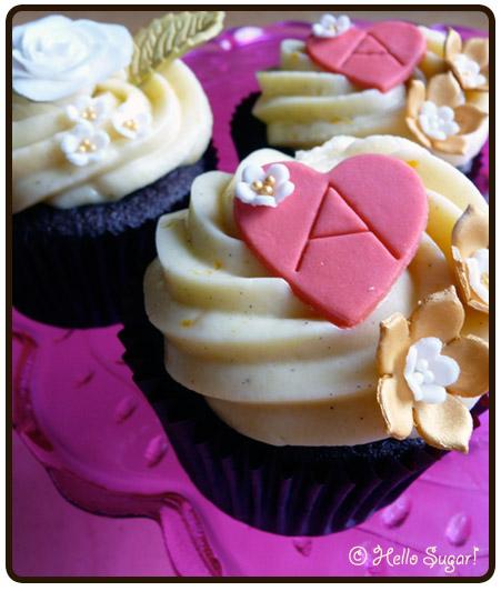 choklad och apelsin cupcakes