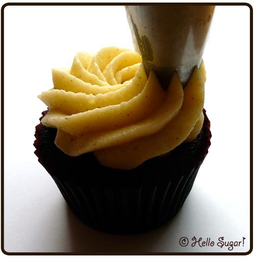 spritsning av cupcake