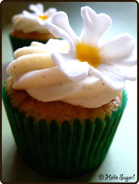 äpple och kanel cupcakes med vaniljfrosting