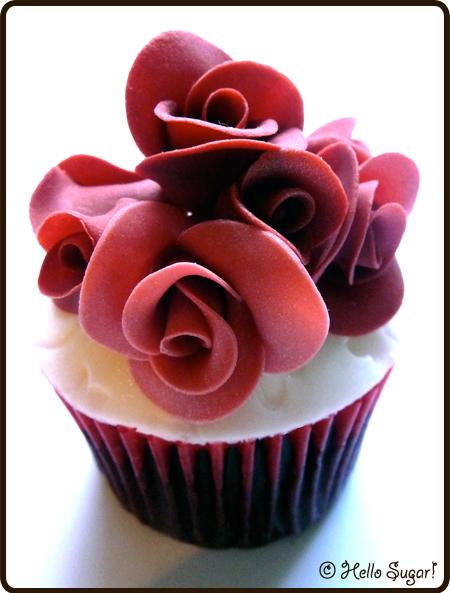 cupcake med rosor till bröllop