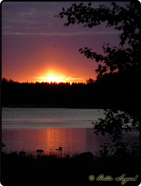 solnedgång på trundön
