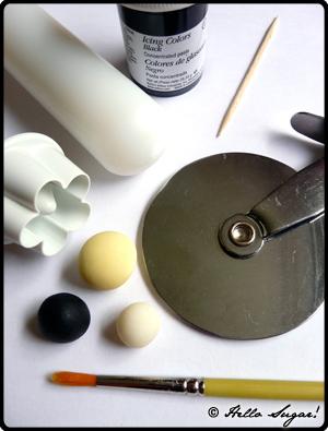 göra honungsbin i sugarpaste - bild 1