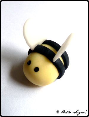 göra honungsbin i sugarpaste - bild 11