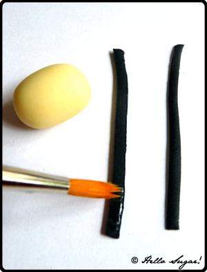 göra honungsbin i sugarpaste - bild 4
