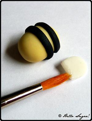 göra honungsbin i sugarpaste - bild 8