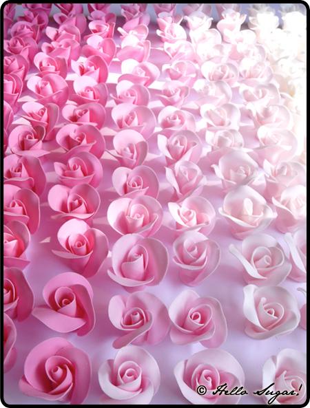 rosor i sugarpaste