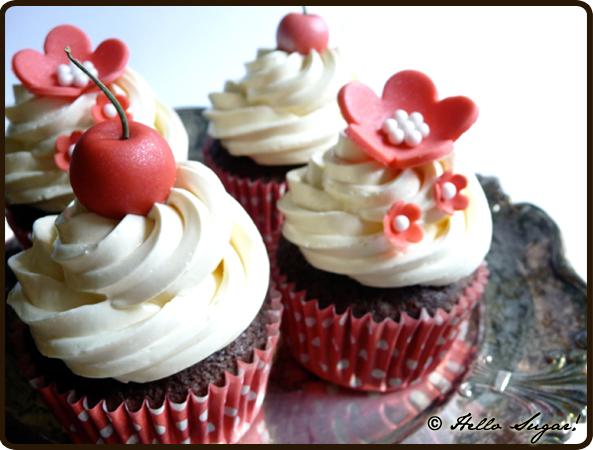 50-tals cupcakes till bröllop