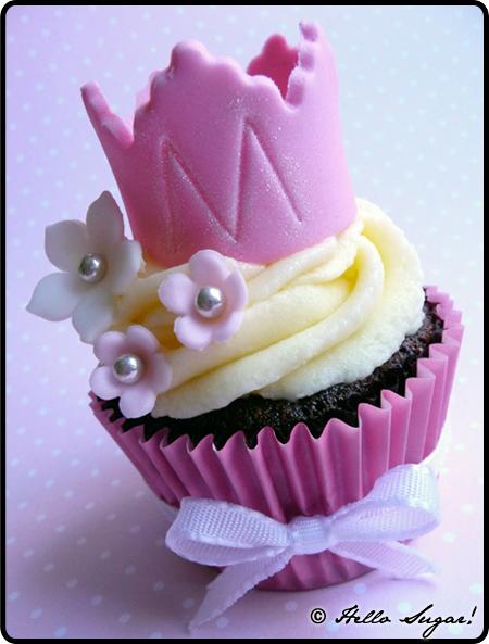 cupcakes till dop med prinsesskrona
