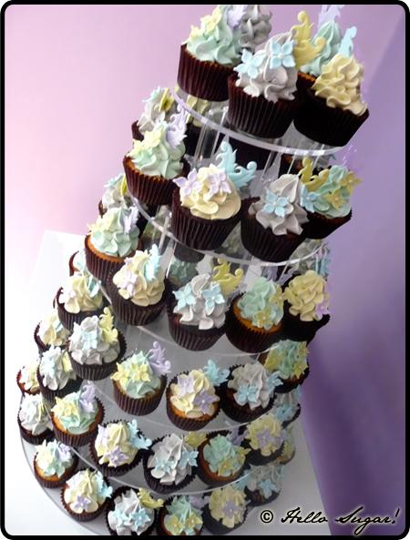 cupcakes på våningsställning