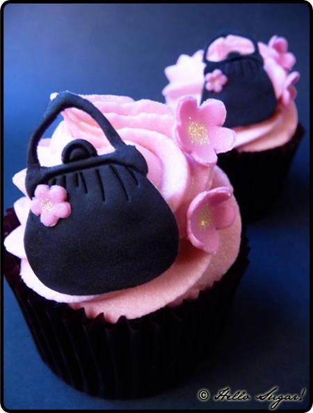 cupcakes med handväskor