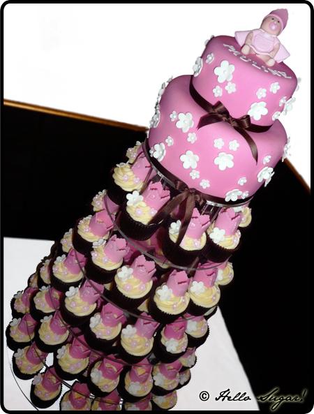 tårta och cupcakes till dop