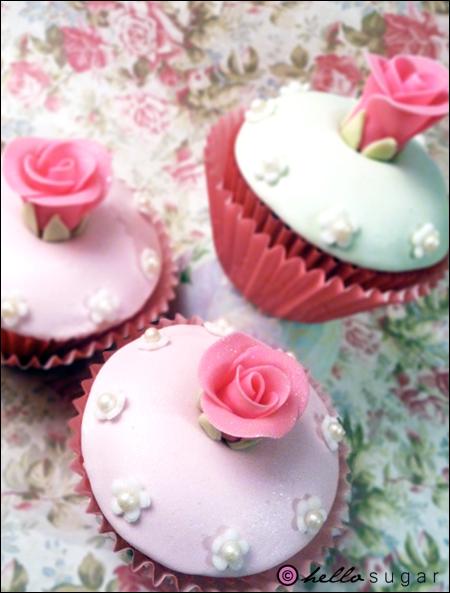 cupcakes med rosor